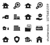 flat vector icon set   house... | Shutterstock .eps vector #1075681559