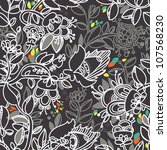 Vector Floral Seamless Pattern. ...