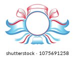 award badge with colored... | Shutterstock .eps vector #1075691258