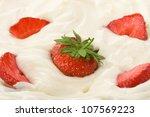 Fresh Strawberry In Sour Cream