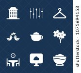 premium set with fill icons....   Shutterstock .eps vector #1075694153