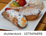close up of sweet pasties and... | Shutterstock . vector #1075696898