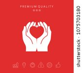 hands holding heart  ...   Shutterstock .eps vector #1075703180