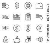 flat vector icon set   coins... | Shutterstock .eps vector #1075710176