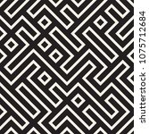 stylish lines lattice. ethnic... | Shutterstock .eps vector #1075712684