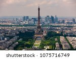 aerial view of eiffel tower ... | Shutterstock . vector #1075716749