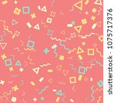 memphis background.  trendy...   Shutterstock .eps vector #1075717376