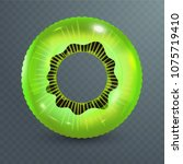 swim ring. inflatable rubber... | Shutterstock .eps vector #1075719410