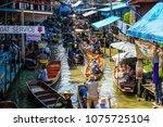 bangkok   march 25  boat... | Shutterstock . vector #1075725104