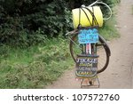 a bicycle carrying an important ... | Shutterstock . vector #107572760