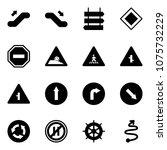 solid vector icon set  ... | Shutterstock .eps vector #1075732229