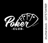 poker club logo. black and... | Shutterstock .eps vector #1075734989