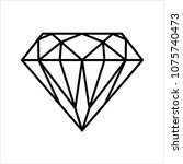 diamond icon  diamond shape cut ... | Shutterstock .eps vector #1075740473