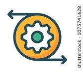 setting gear configure  | Shutterstock .eps vector #1075741628