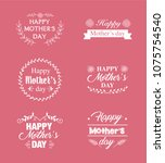 mothers day lettering... | Shutterstock .eps vector #1075754540