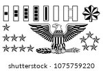 set of american military army... | Shutterstock . vector #1075759220