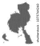 halftone hexagonal veraguas... | Shutterstock .eps vector #1075764260