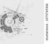 abstract modern technology... | Shutterstock .eps vector #1075769306