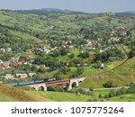 carpatian mountains train... | Shutterstock . vector #1075775264