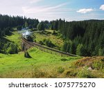 carpatian mountains train... | Shutterstock . vector #1075775270