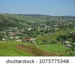 carpatian mountains train... | Shutterstock . vector #1075775348