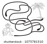 maze game for kids. help the...   Shutterstock .eps vector #1075781510