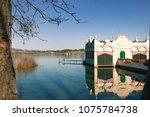 beautiful landscape  banyoles ... | Shutterstock . vector #1075784738