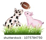 cartoon cute and cheerful... | Shutterstock .eps vector #1075784750