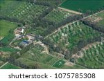 aerial view of countryside near ... | Shutterstock . vector #1075785308