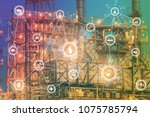 4.0 advanced industrial concept ... | Shutterstock . vector #1075785794