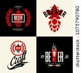 modern craft beer drink vector... | Shutterstock .eps vector #1075790780