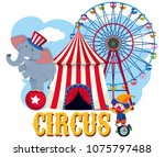circus element on white... | Shutterstock .eps vector #1075797488
