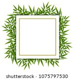 bamboo leaf  on white template... | Shutterstock .eps vector #1075797530
