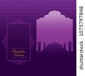 ramadan kareem greeting... | Shutterstock .eps vector #1075797848