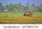 an auto rickshaw traveling... | Shutterstock . vector #1075802714