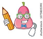 student rose apple character... | Shutterstock .eps vector #1075805390