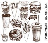 street food festival menu.... | Shutterstock .eps vector #1075810166