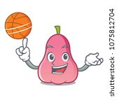 with basketball rose apple... | Shutterstock .eps vector #1075812704