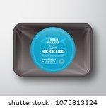ocean herring fillets. abstract ... | Shutterstock .eps vector #1075813124