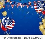 american president day...   Shutterstock .eps vector #1075822910