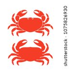 crab silhouette. isolated crab... | Shutterstock .eps vector #1075826930