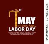 labor day celebration design... | Shutterstock .eps vector #1075831136