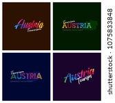 tourism austria typography logo ... | Shutterstock .eps vector #1075833848