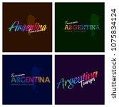 tourism argentina typography... | Shutterstock .eps vector #1075834124