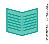 open book icon. education book... | Shutterstock .eps vector #1075836569