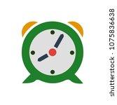 vector clock alarm illustration ... | Shutterstock .eps vector #1075836638