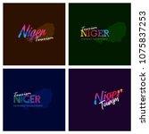 tourism niger typography logo...   Shutterstock .eps vector #1075837253