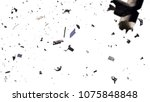 space debris in earth orbit ... | Shutterstock . vector #1075848848