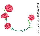 carnation mother's day... | Shutterstock .eps vector #1075849034