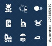 premium set with fill icons.... | Shutterstock .eps vector #1075850690